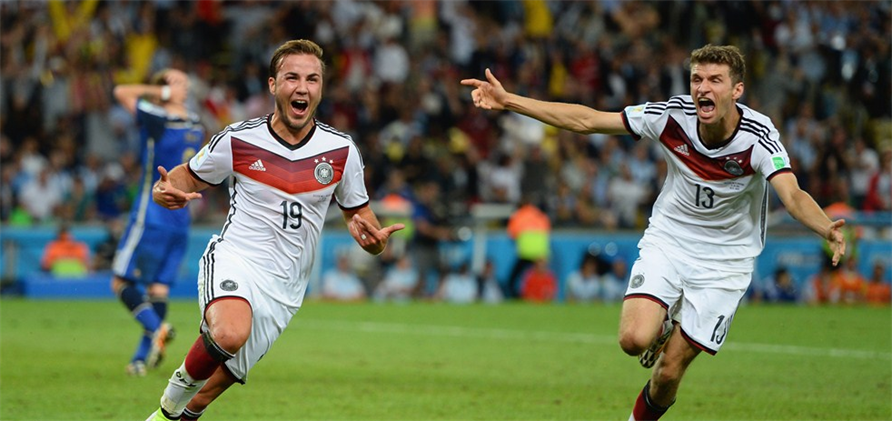 Germany Celebrate Decisive World Cup Goal