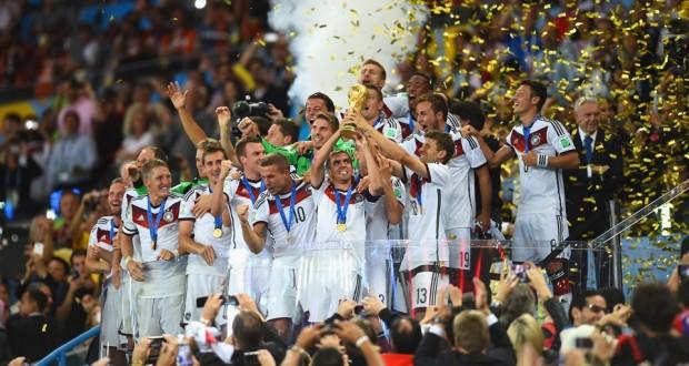 Philip Lahm Raises World Cup Trophy